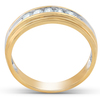 1/4 Ct Diamond Mens Wedding Ring 10k Yellow Gold (H, I1-I2)