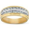 1 Ct Diamond Mens Double Row Wedding Ring 10k Yellow Gold (H, I1-I2)