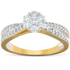 1/2 Ct Diamond Engagement Crossover Infinity Band 10k Yellow Gold (H, I1-I2)