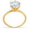 2 Ct Round Solitaire Diamond Engagement Ring 14k Yellow Gold (H/I, I1-I2)