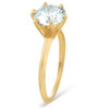 2 Ct Round Solitaire Diamond Engagement Ring 14k Yellow Gold (H/I, I1-I2)