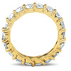 3Ct Diamond U Prong Eternity Ring Wedding Anniversary Band 14k Yellow Gold (H/I, I1-I2)