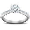 2 Ct Single Row Round Diamond Engagement Ring 14k White Gold (G/H, SI1-SI2)