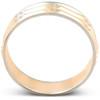 14k Gold Mens Two Tone Swiss Cut Ring Wedding Band