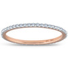 3/8ct Diamond Eternity Ring 14k Rose Gold Womens Stackable Wedding Band (G/H, I1-I2)
