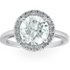 1 1/2 Ct Halo Round Diamond Low Profile Engagement Ring 14k White Gold Enhanced (G/H, SI2)
