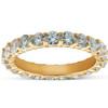 1 3/8 Ct TDW Diamond Eternity Ring Shared Prong Anniversary Band 14k Yellow Gold (H/I, SI2)