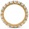 1 3/8 Ct TDW Diamond Eternity Ring Shared Prong Anniversary Band 14k Yellow Gold (H/I, SI2)