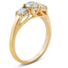 1.40 Ct Genuine Diamond Three Stone Engagement Ring 14k Yellow Gold (G/H, I1-I2)