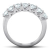 1 Ct Diamond Wedding Ring 7-Stone U Prong Anniversary Band 14k White Gold (H/I, I1-I2)