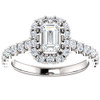 1 3/4 Ct Emerald Diamond Halo Engagement Ring 14k White Gold (H/I, SI1-SI2)