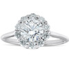 1 1/2 Ct TDW Halo Round Cut Diamond Engagement Ring With Plain Band White Gold (G/H, SI1-SI2)