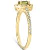 1/2 Ct TW Oval Peridot & Diamond Halo Ring 14k Yellow Gold (H/I, I1-I2)