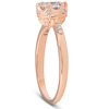 1 Ct TDW Morganite & Diamond Vintage Engagement Ring 14k Rose Gold (H/I, I1-I2)