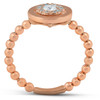 18k Rose Gold .27CT Halo Diamond Round Engagement Ring (G-H, SI1)