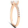 1 1/2 Ct Sideways Emerald Cut Diamond Engagement Ring 14k Rose Gold (H/I, SI2-I1)