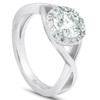 1 Ct Diamond Halo Infinity Crossover Band Engagement Ring 14k White Gold (H/I, I1-I2)