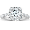 1.75 Ct Cushion Halo Diamond Engagement Ring 14k White Gold (G/H, SI1-SI2)