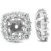 3/4 Ct Diamond Stud Earring Cushion Halo Jackets 14k White Gold (G-H, I1)