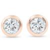 1/3 ctw 14k Rose Gold Diamond Bezel Martini Stud Earrings (I/J, I1-I2)