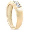 1 Ct Diamond Ring Mens High Polished Solid Yellow Gold Wedding Anniversary Band (H/I, I1-I2)