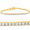 "3 Ct. Diamond 18K Yellow Gold Round Cut Tennis Bracelet 7"" (G/H, I1)"