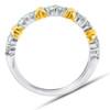 1/2Ct Diamond Wedding Womens Ring Two Tone Band 14k White & Yellow Gold (G/H, I1-I2)