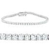 "F/SI 4.28 Ct Diamond Tennis Bracelet 18k White Gold 7"" (F-G, SI1)"