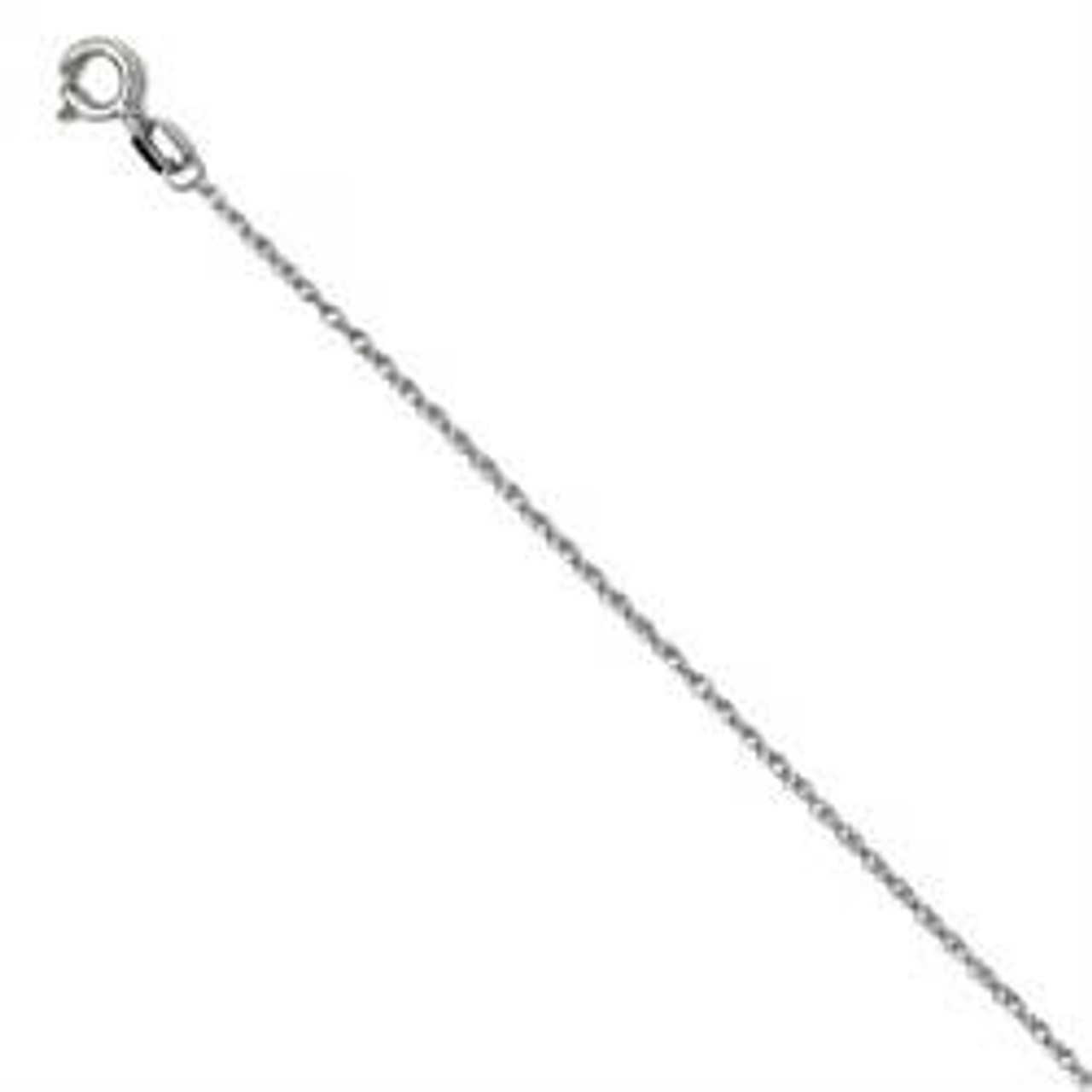 """18/"""" Chain 3ct Round Cut Solitaire Solid 14k White Gold Pendant Necklace"""