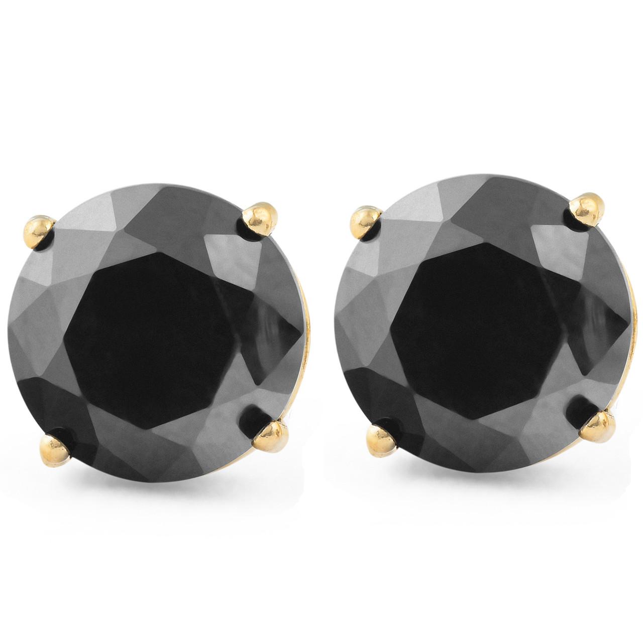 black enamel earrings black diamond earrings open diamond earrings Gold and black geometric earrings