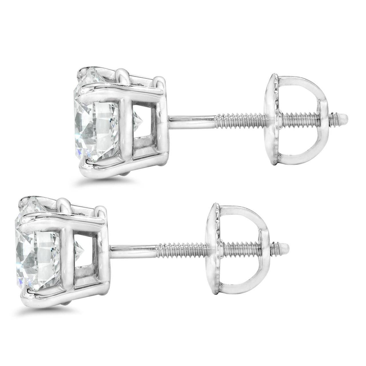 c048d9d8b 1 ct Diamond Studs with Screw Backs 14k White Gold ((G-H), SI(1)-SI(2)).  1ctscrewbackSI.  https://d3d71ba2asa5oz.cloudfront.net/53000589/images/150sbheadon.