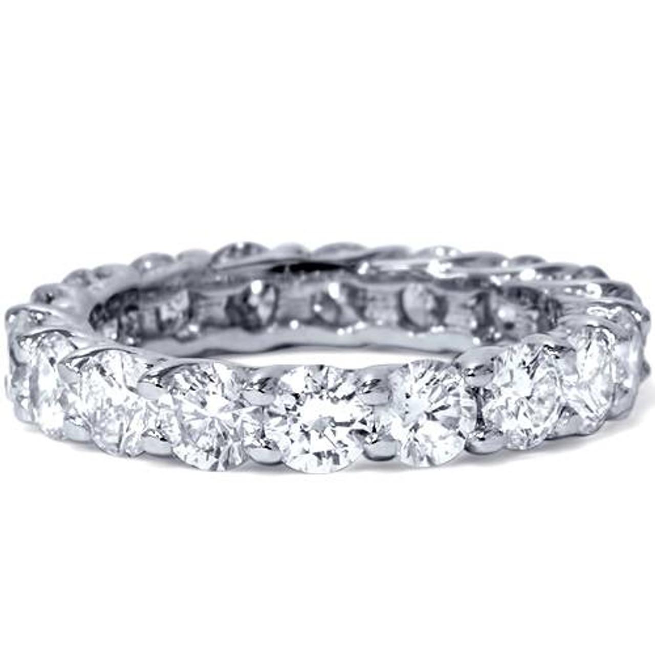 b31907260d7 3ct Trellis Diamond Eternity Wedding Ring 14K White Gold (G H
