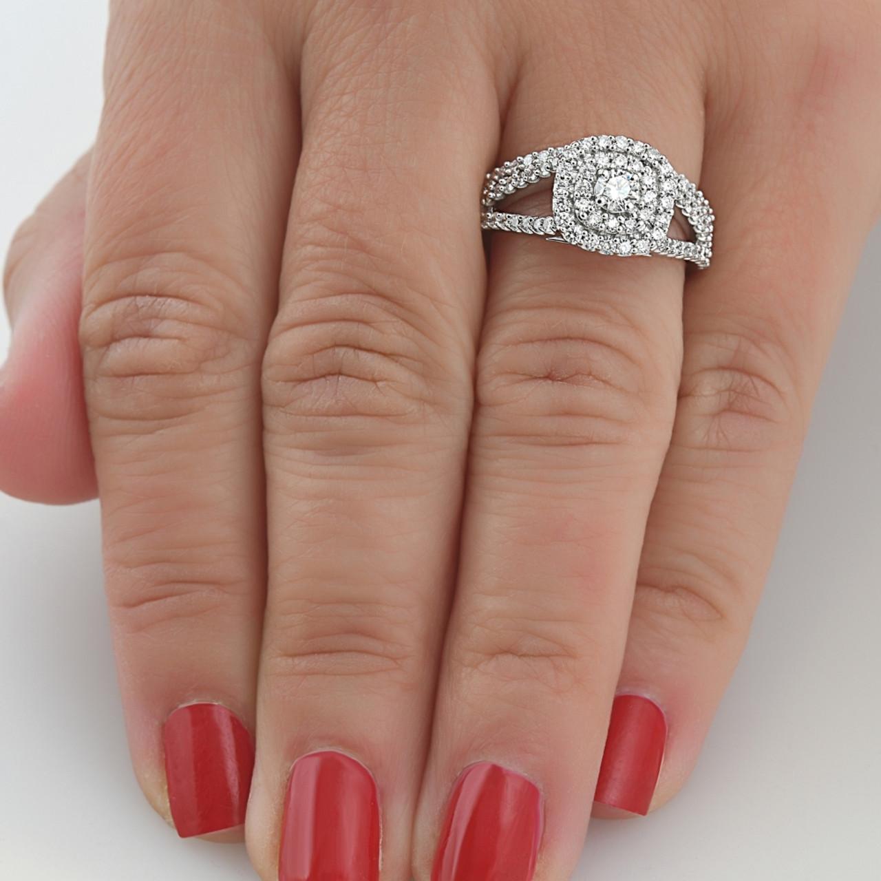 Diamond Wedding Band in 14K White Gold Size-3.75 1//10 cttw, G-H,I2-I3