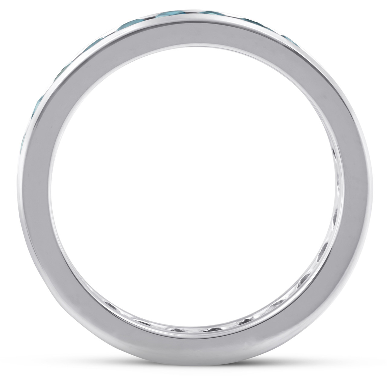 1 1//2ct Channel Set Diamond Eternity Ring 14K White Gold Womens Wedding Band