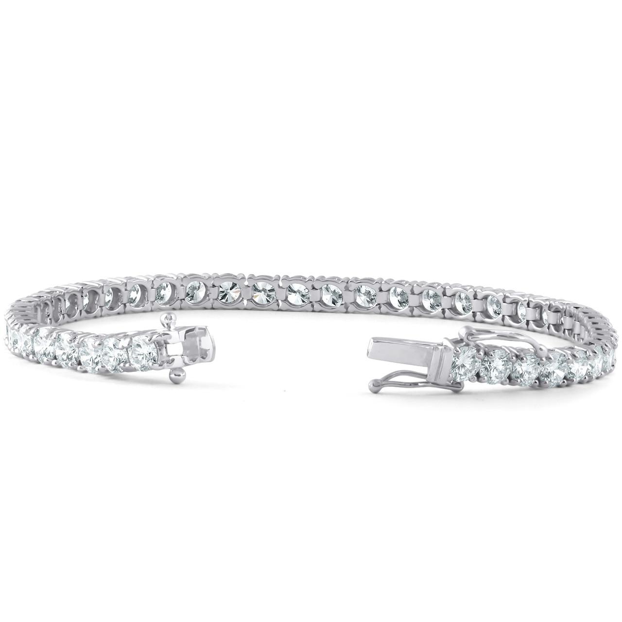 ded77505003 10 Ct Diamond Tennis Bracelet 18k White Gold Lab Grown Eco Friendly (H