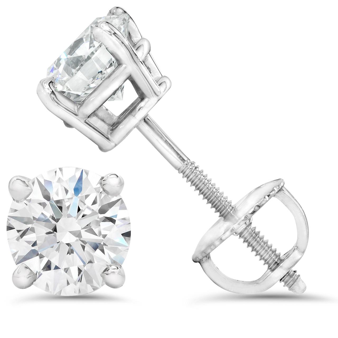 5afebb94a 2 1/4 ct TDW Diamond Screw Back Studs 14K White Gold