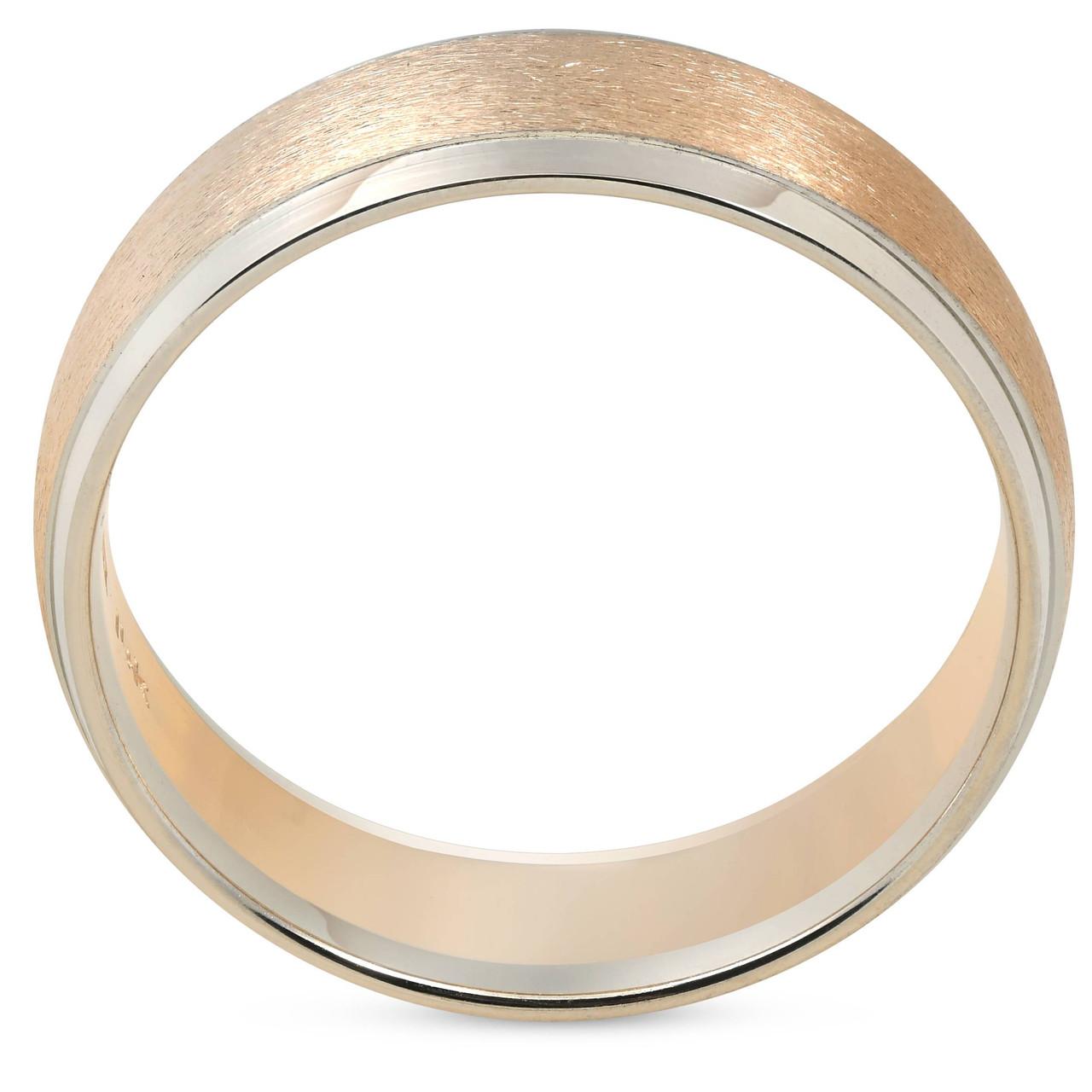 6f1425d58da Mens Plain Wedding Band 14K Gold Two Tone Comfort Fit. WB7735.  https   d3d71ba2asa5oz.cloudfront.net 53000589 images wb7735%