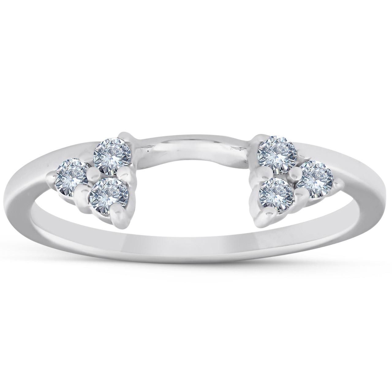 1 4ct Diamond Ring Enhancer Wedding Ring 14k White Gold