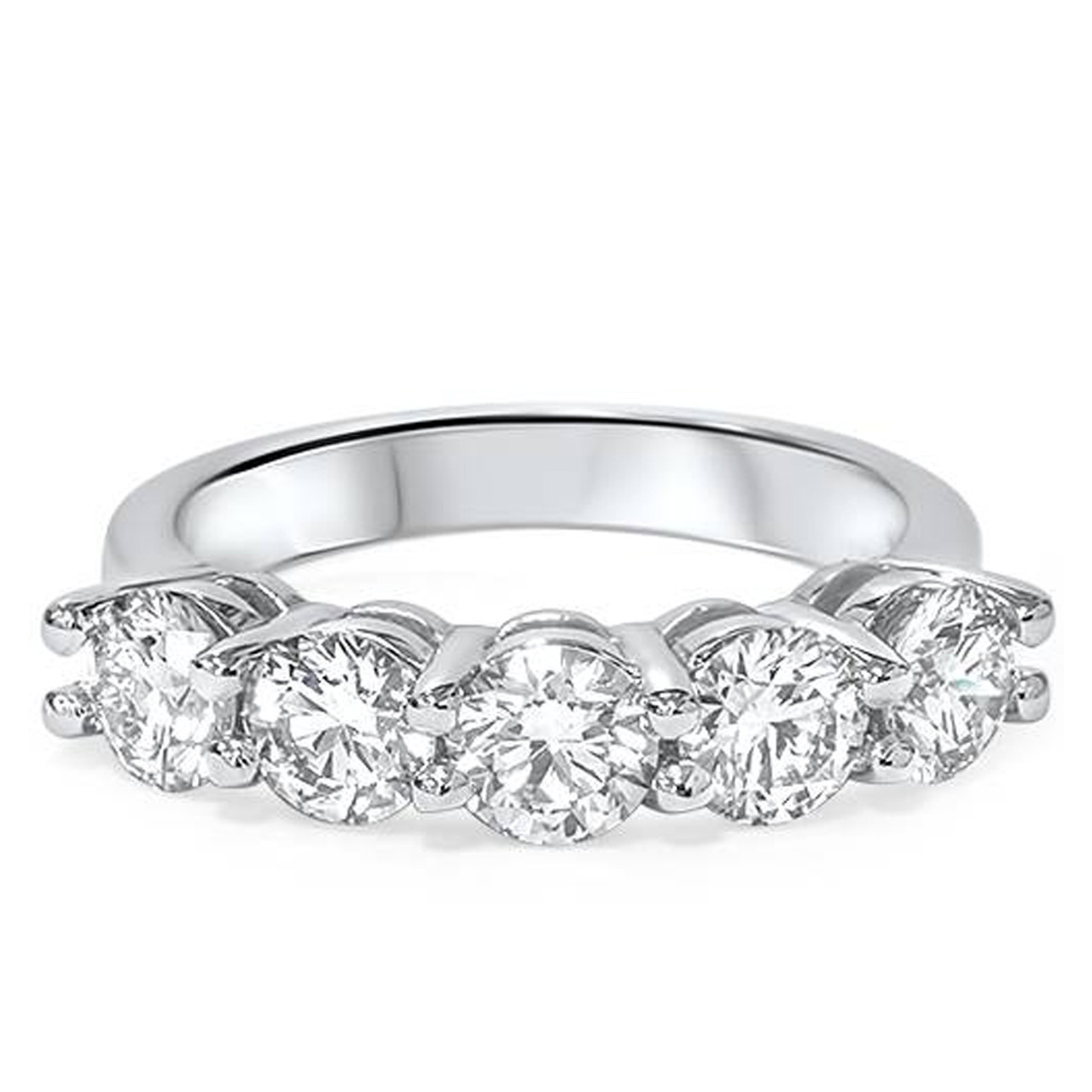14k Gold Lab Grown Diamond Posts Eternity Fashion Ring High Quality Fine Jewelry
