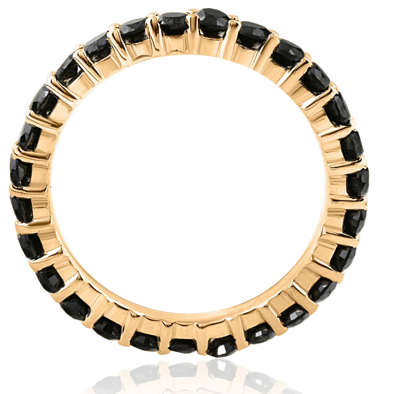2d8be8e818bb3 1 1/2ct Black Diamond Eternity Ring 14k Yellow Gold Womens Stackable Band  (Black, )