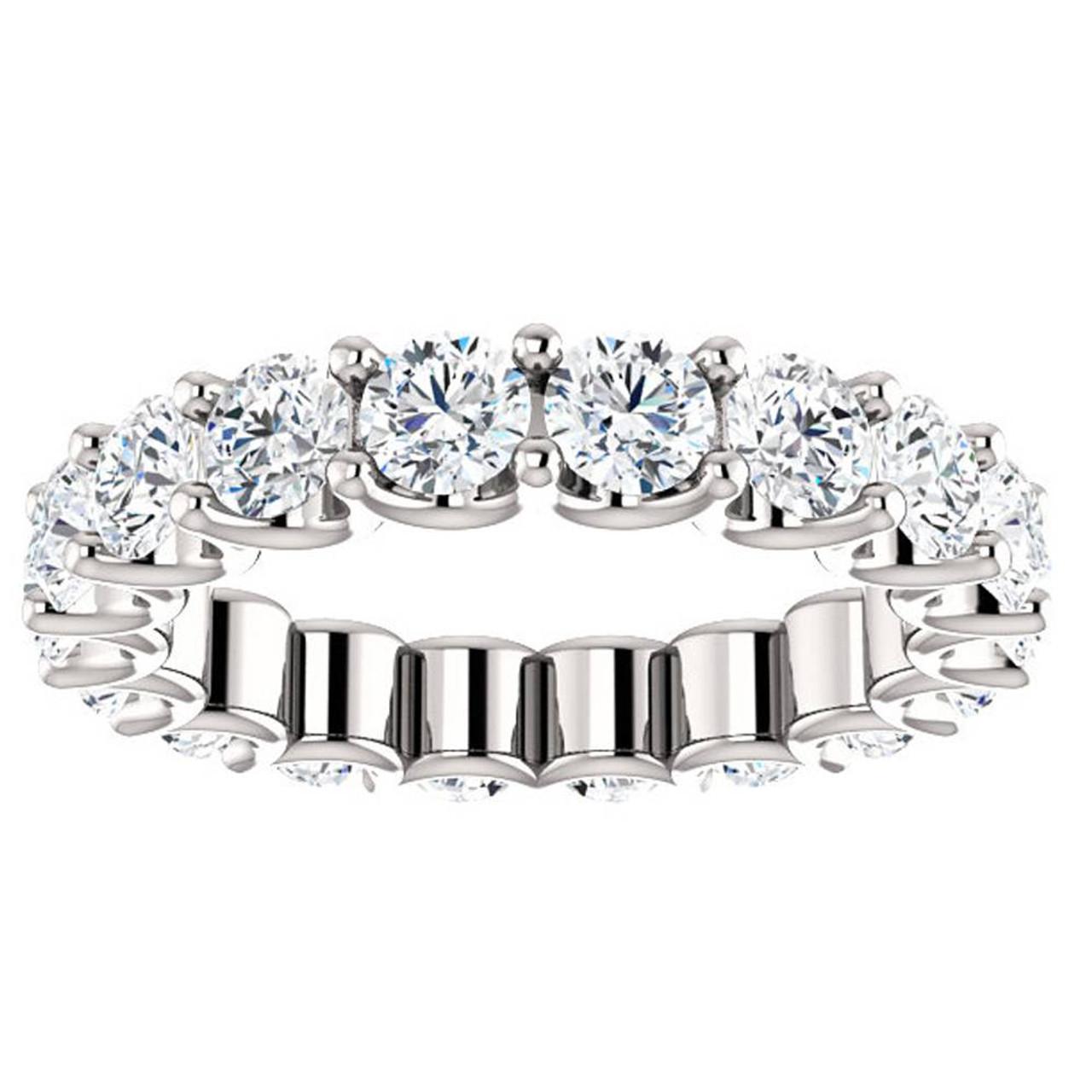 82529a585de21 3 1/2 cttw Diamond Eternity Ring U Prong 14k White Gold Wedding Band (H-I,  I1)
