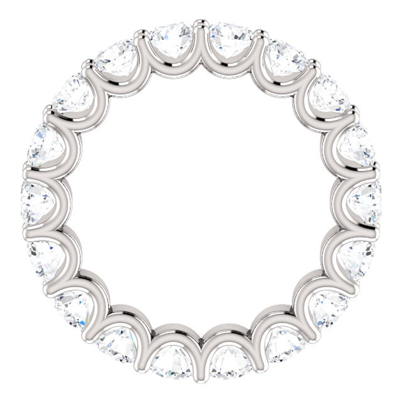 6c499edadccfd0 3 1/2 cttw Diamond Eternity Ring U Prong 14k White Gold Wedding Band