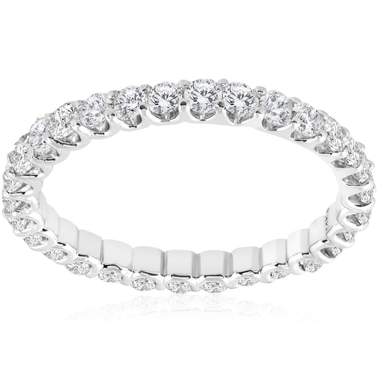 8fdb172eb14 1 1 2 cttw Diamond Eternity Ring U Prong 14k White Gold Wedding Band