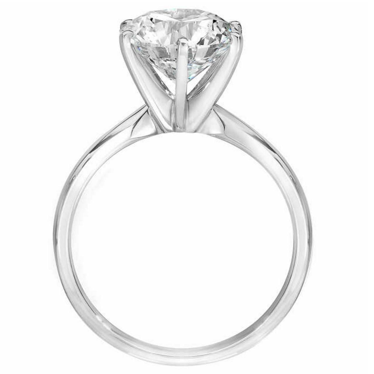 3ct Enhanced Round Diamond Solitaire Engagement Ring 14k