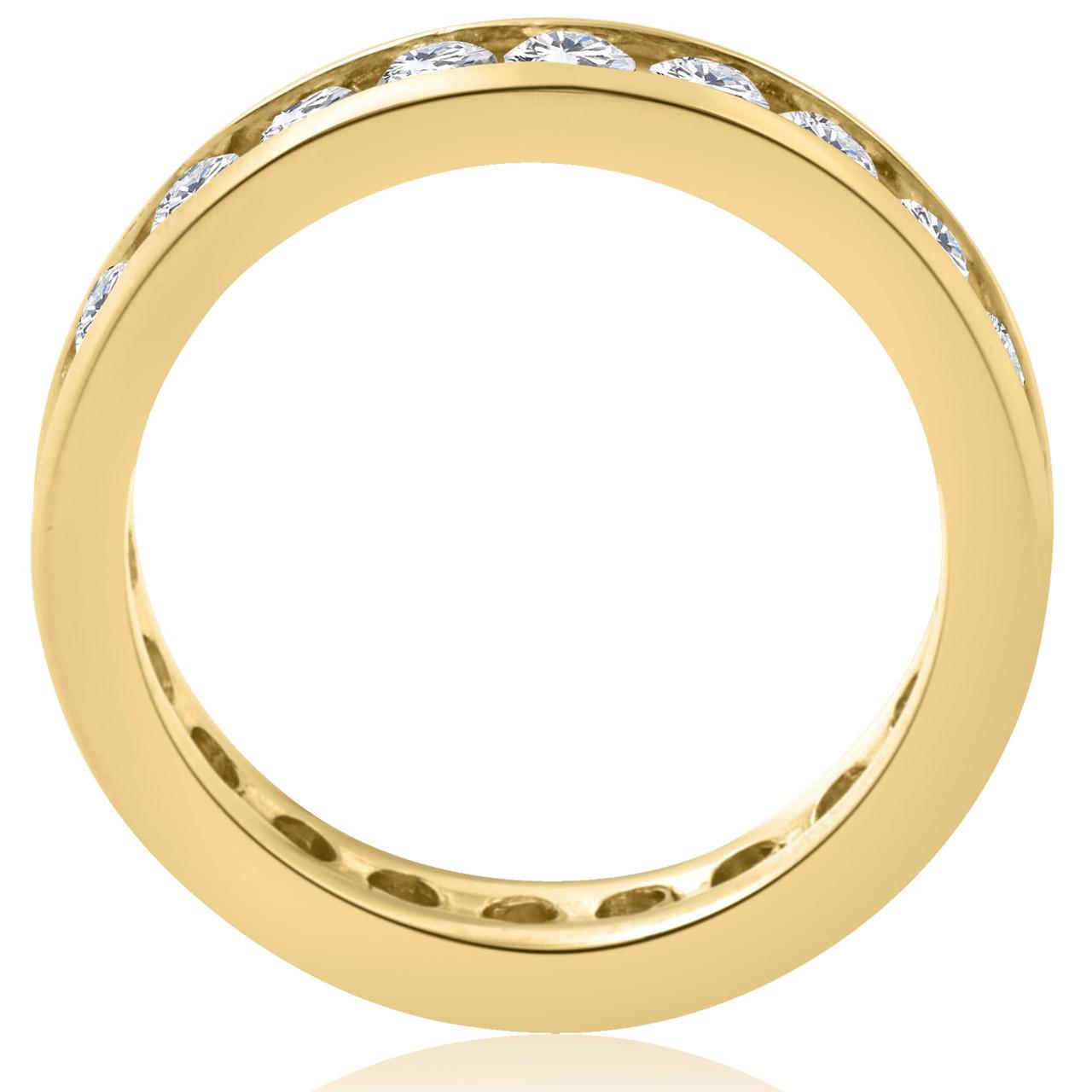1ct Channel Set Diamond Eternity Ring 14K Yellow Gold