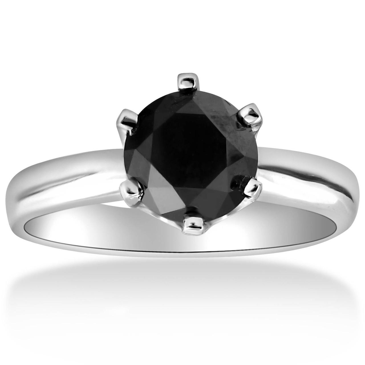 2 Ct Treated Black Diamond Solitaire En Ement Ring 14k White Gold Black Eng01062ct Https D3d71ba2asa5oz Cloudfront Net 53000589 Images Eng01061