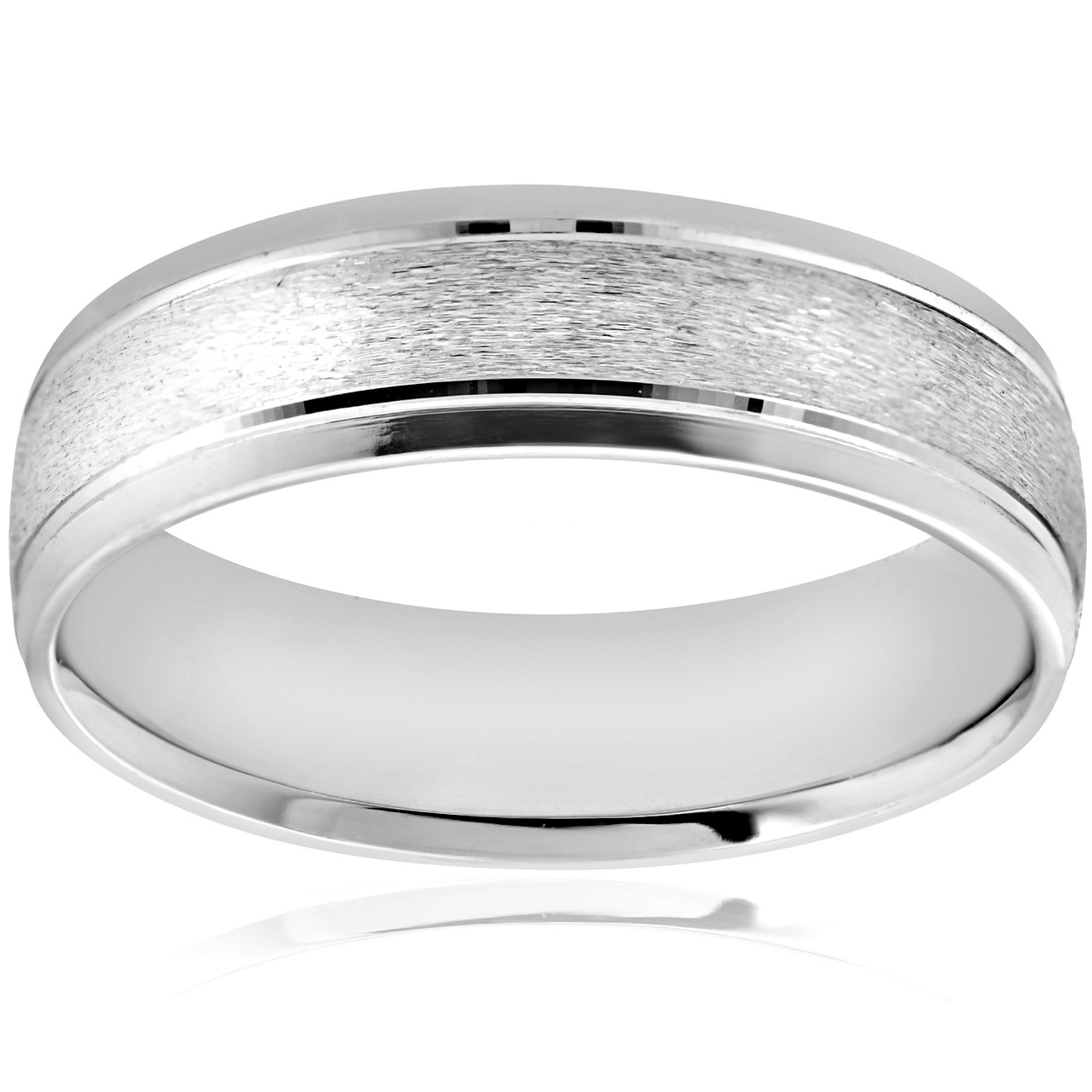 f516d6c1884dbc 6MM Platinum Mens Wedding Band Brushed Comfort Fit Flat Ring. WB5611PT.  https://partnerconnect.pompeii3.com/appfiles/itemimages/5a6002fc40959.