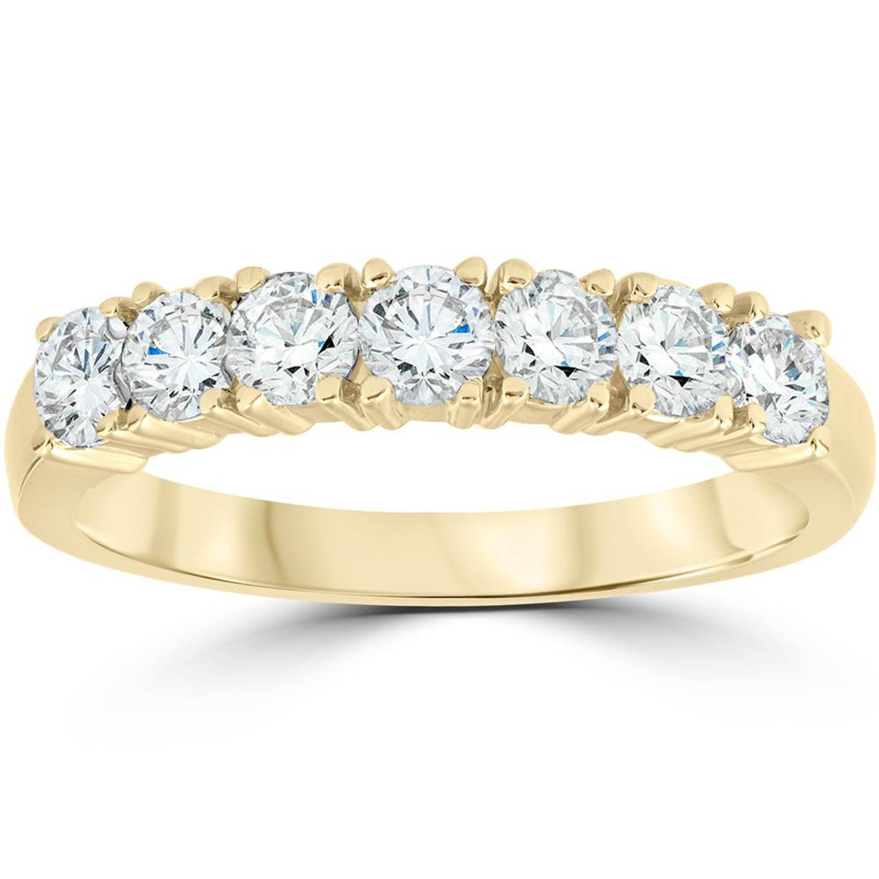 14K Gold Saphires And Diamonds Band Anniversary Ring Italy AS31