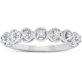 1/4 Ct Diamond 7-Stone Wedding Ring 14k White Gold (H/I, )