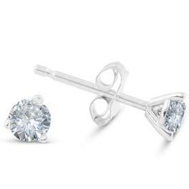 1/4 ct TDW Round Lab Grown Diamond Studs in Platinum, 14k White or Yellow Gold (F/G, VS2-SI1)